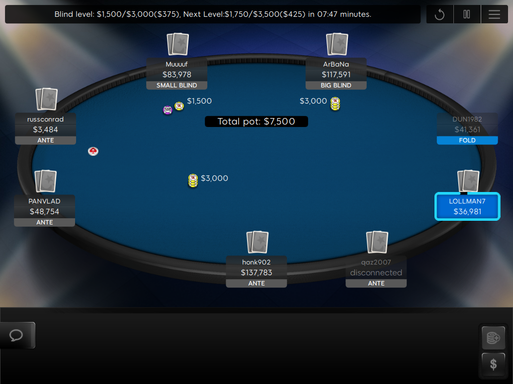 02 PokerStars Clone Mercury for 888 Final Table Blue Felt