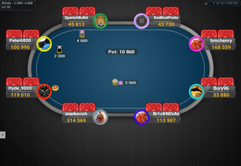 03 PartyPoker Table Theme Black Coloured Notes