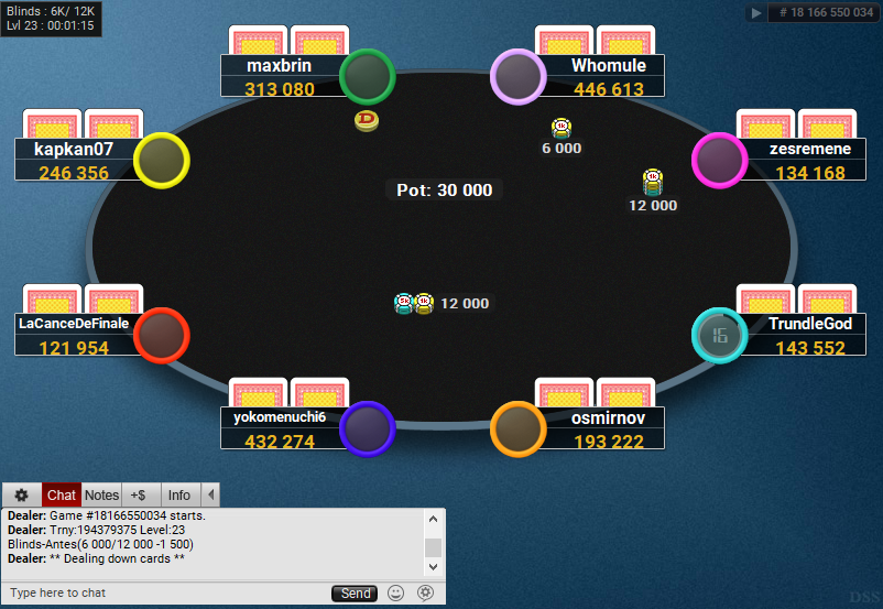 03 PartyPoker Table Theme Hyper-Simple Coloured Notes