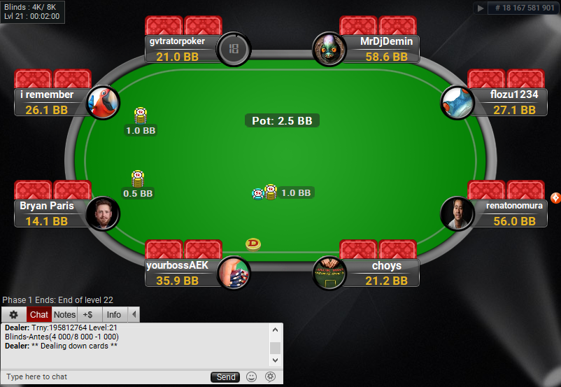04 PartyPoker Table Theme Black Final Table