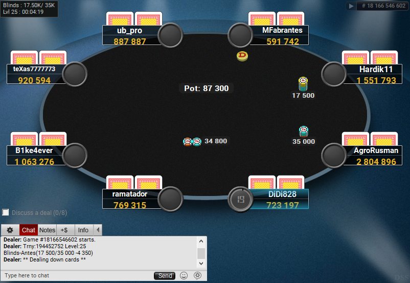 04 PartyPoker Table Theme Hyper-Simple Final Table