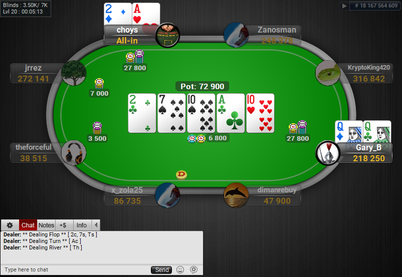 05 PartyPoker Table Theme Black Holdem SD1