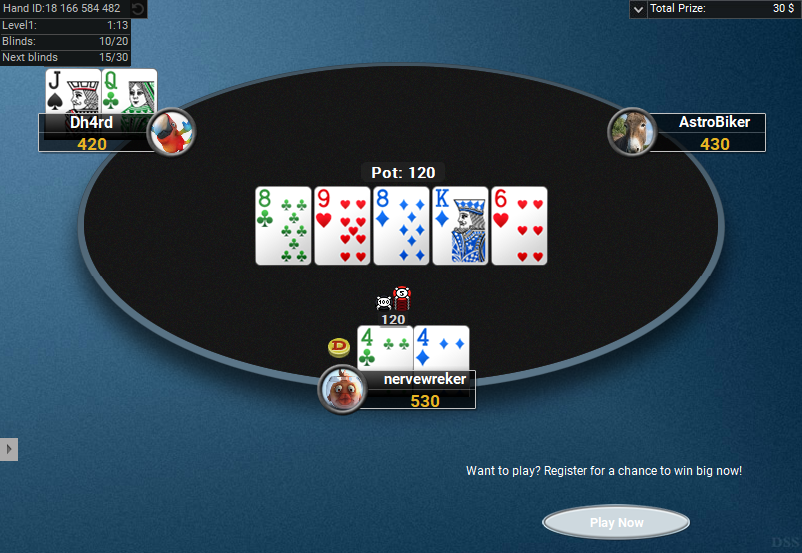 05 PartyPoker Table Theme Hyper-Simple Holdem SD1