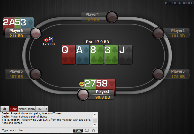 06 PartyPoker Table Theme Black Quasar PLO SD