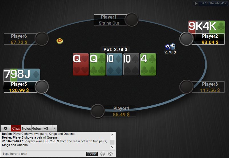 06 PartyPoker Table Theme Hyper-Simple Quasar PLO SD