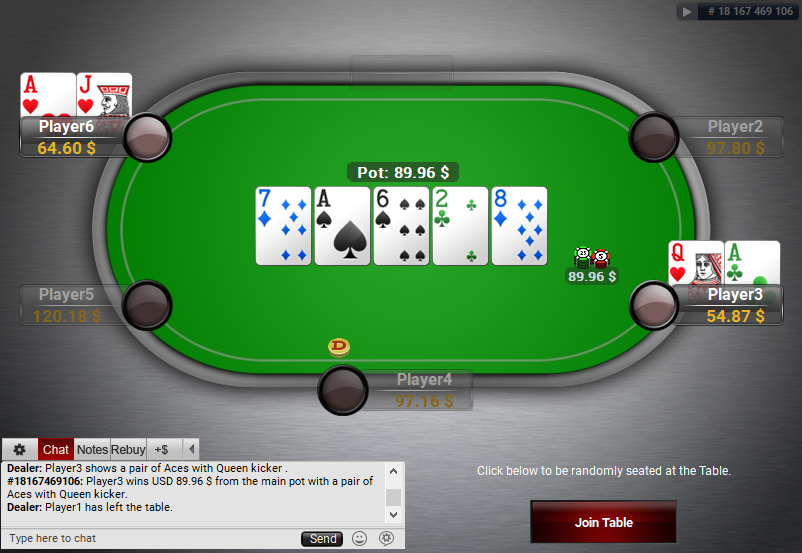 07 PartyPoker Table Theme Black Holdem SD2
