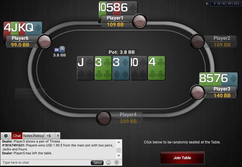 08 PartyPoker Table Theme Black Quasar PLO SD2
