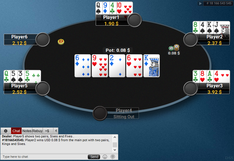 08 PartyPoker Table Theme Hyper-Simple White Deck PLO SD