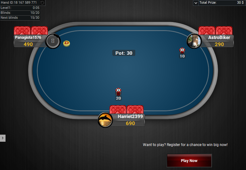 09 PartyPoker Table Theme Black Sit and Go Hero
