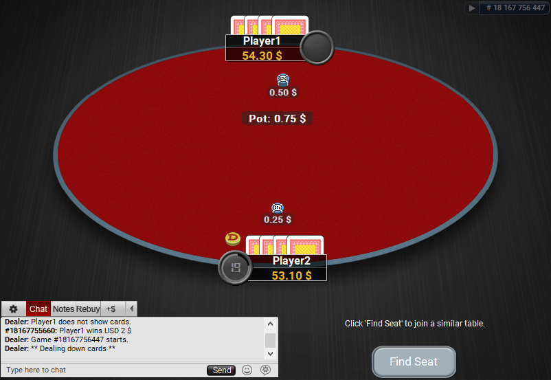 11 PartyPoker Table Theme Hyper-Simple HU Table