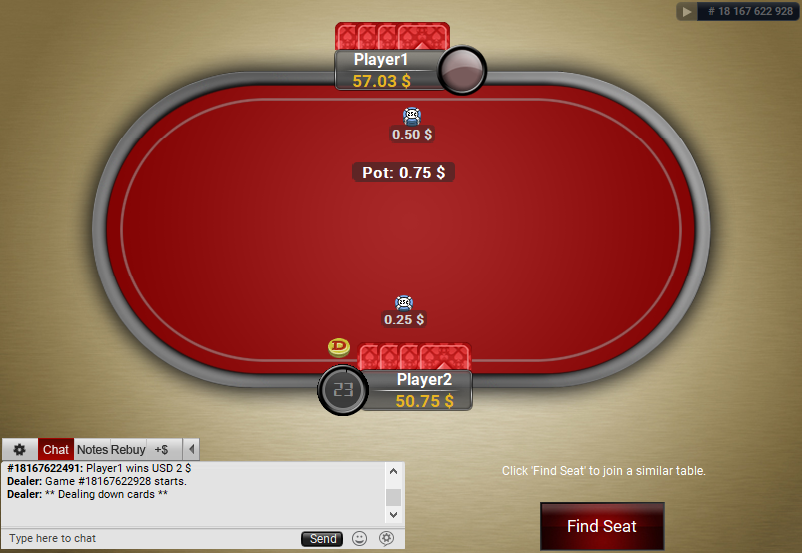 18 PartyPoker Table Theme Black HU Table
