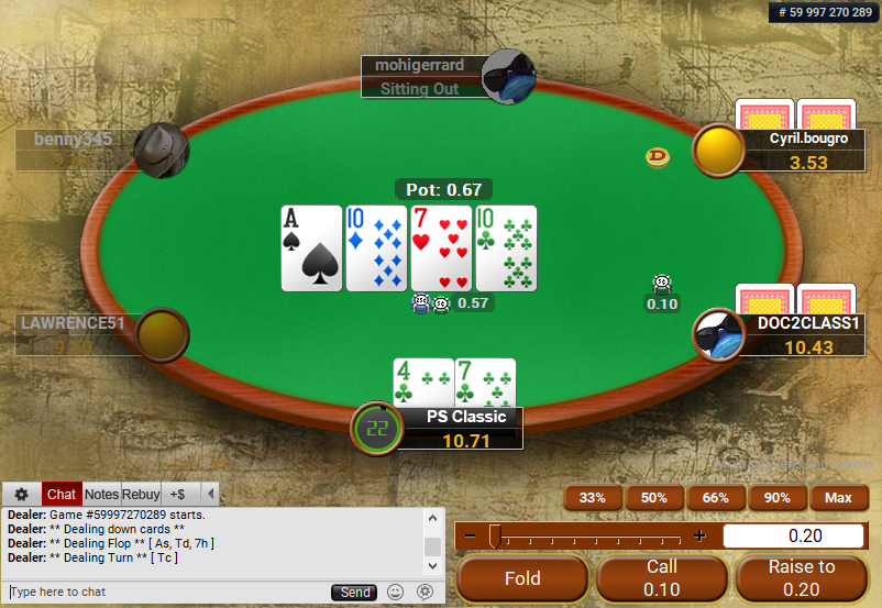 01 PartyPoker Table Theme Classic Action Buttons