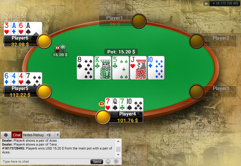 07 PartyPoker Table Theme Classic PLO SD1