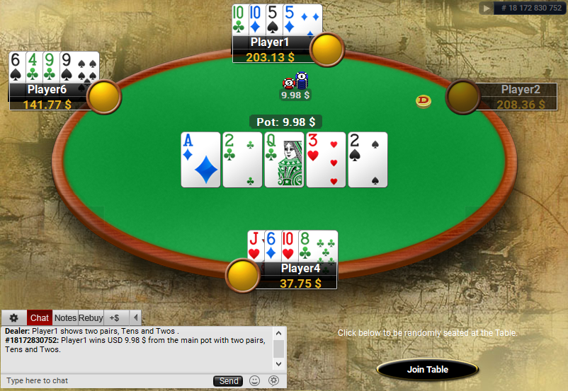 08 PartyPoker Table Theme Classic PLO SD2