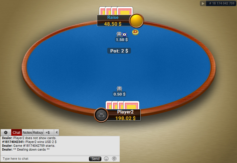 11 PartyPoker Table Theme Classic HU Table