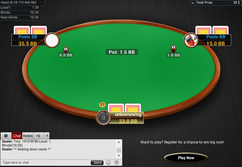 12 PartyPoker Table Theme Classic Sit and Go Hero Table