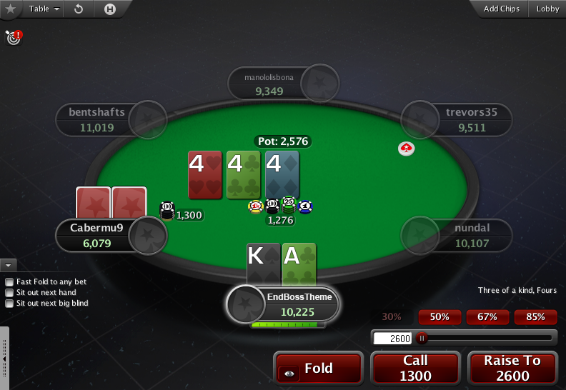 PokerStars Theme EB - 01 Action Buttons