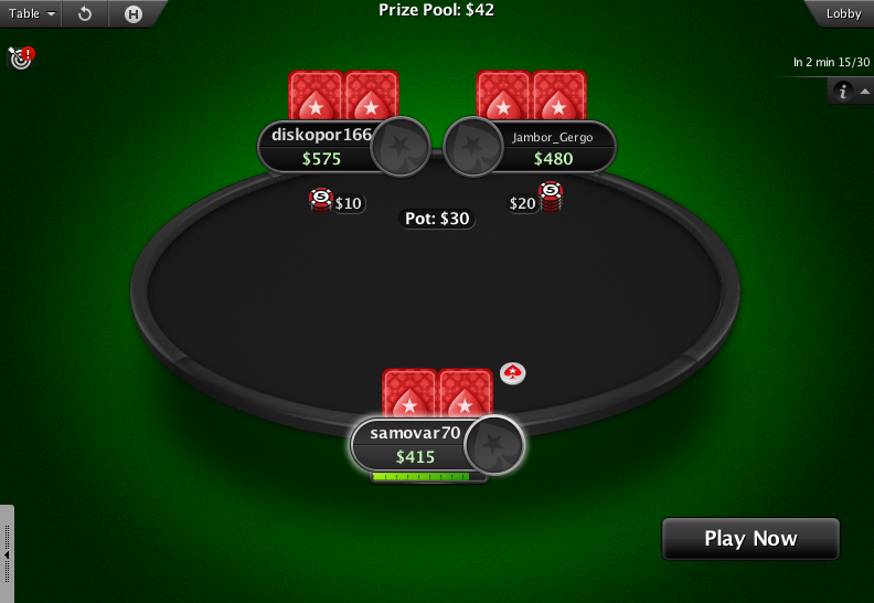 PokerStars Theme EB - 03 Spin and Go Table