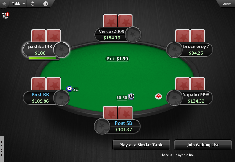 PokerStars Theme EB - 04 6-Max Table