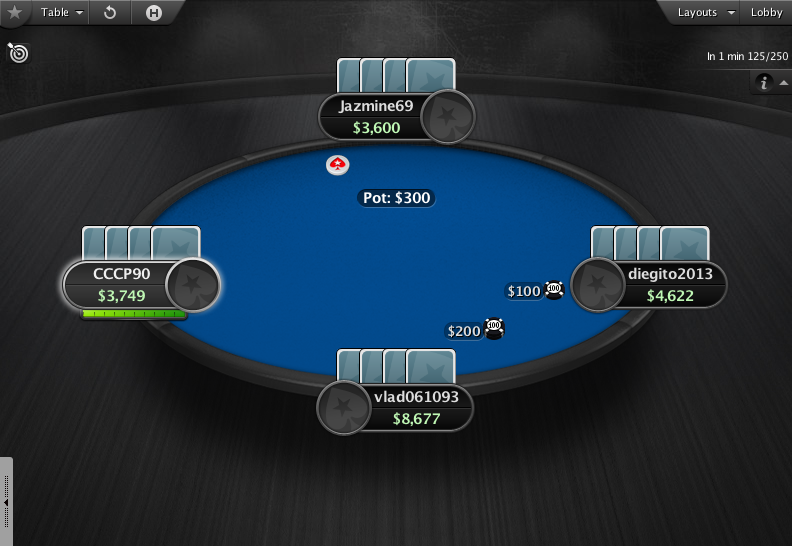 PokerStars Theme EB - 05 4-Max Table