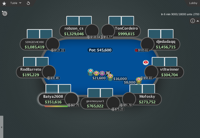 PokerStars Theme EB GTO V.3 - 03 9-Max Table