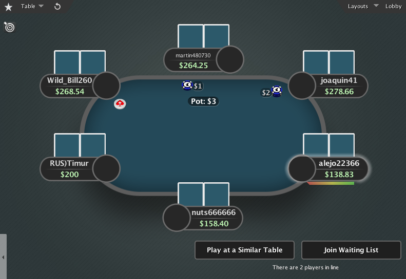PokerStars Theme EB GTO V.3 - 05 6-Max Table