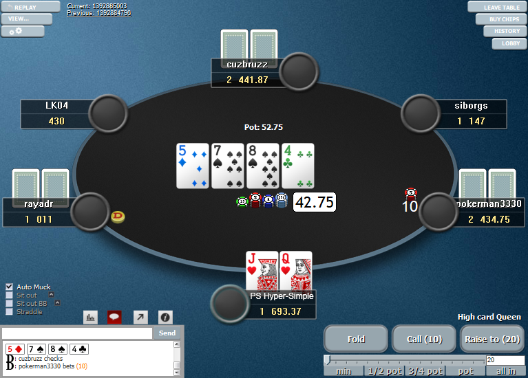 PokerStars Clone Hyper-Simple for WPN 01