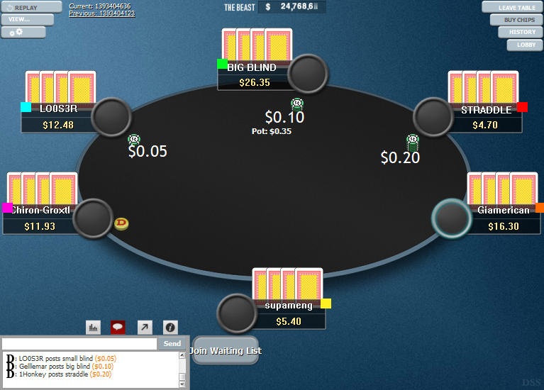 PokerStars Clone Hyper-Simple for WPN 04