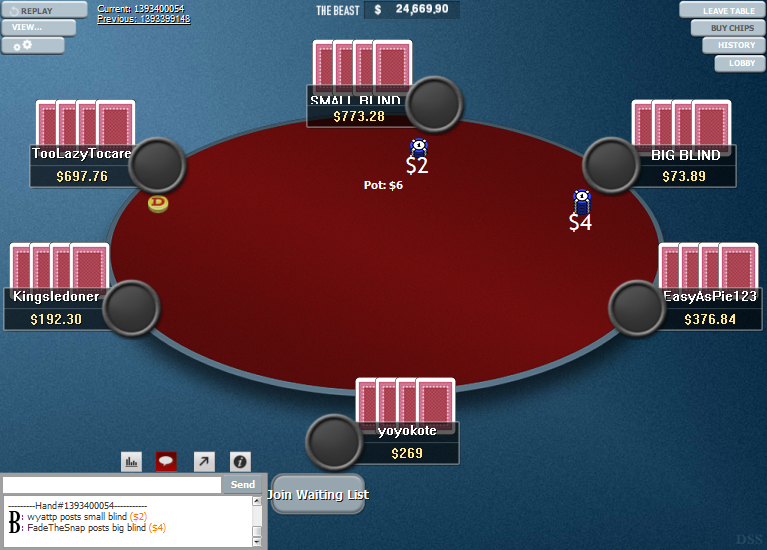 PokerStars Clone Hyper-Simple for WPN 14