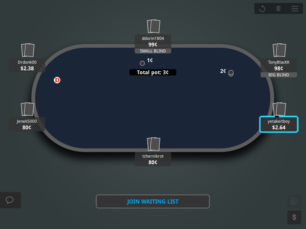 888 GTO V.2 Table Theme 10 6-Max Blue