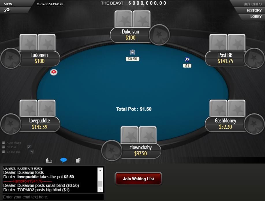 PokerStars Clone Mercury for WPN 05