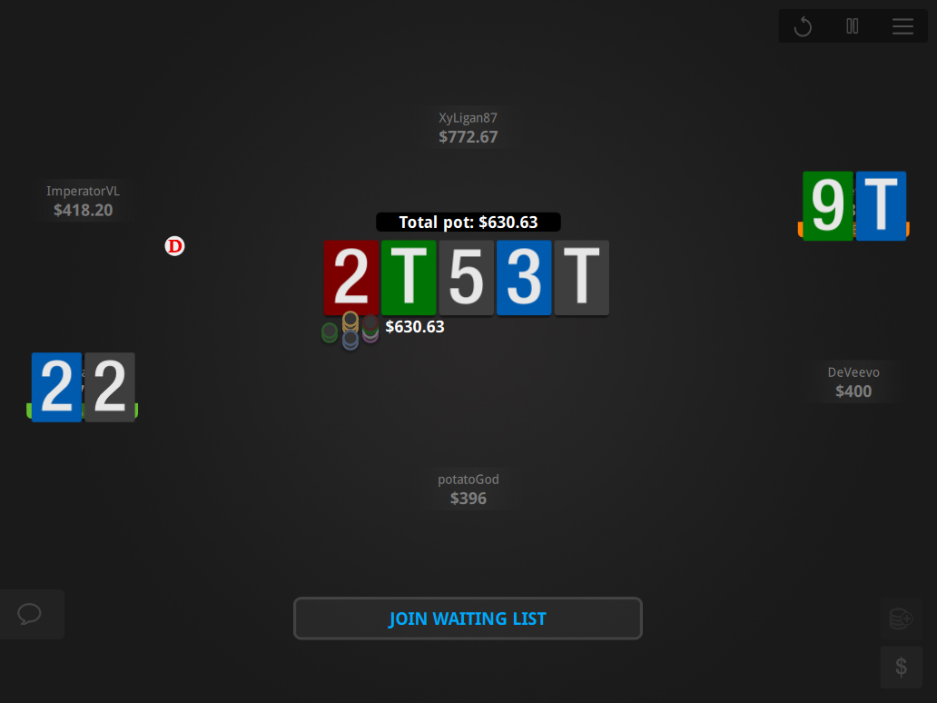 The Zone Table Theme for 888 - 02 Showdown Cash