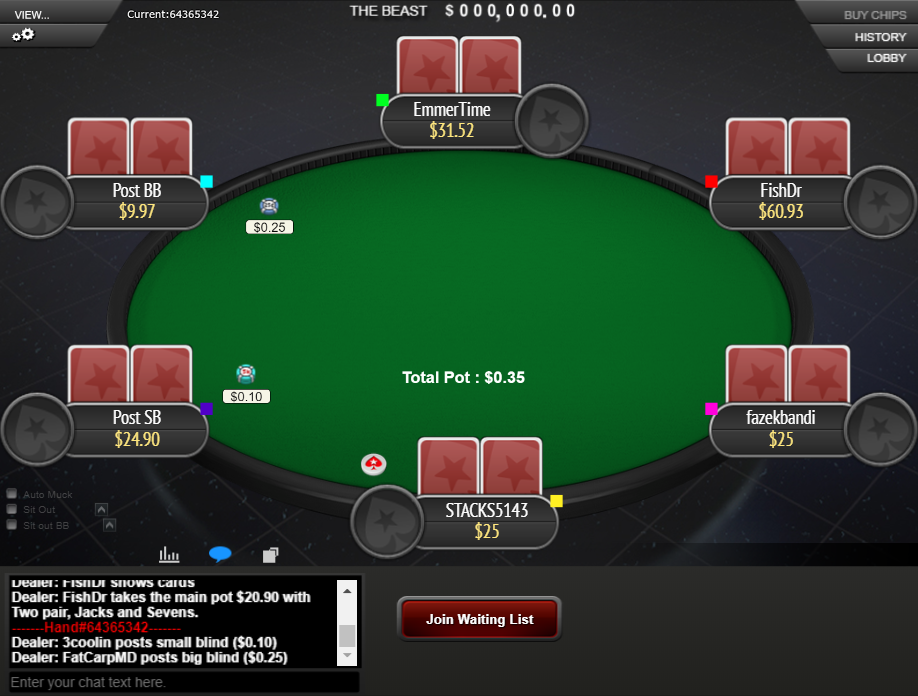 PokerStars Clone Mercury for WPN Notes