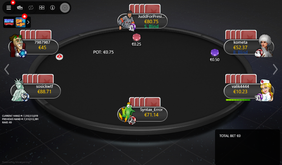 PokerStars Clone Mercury for MPN Prima 03 PLO
