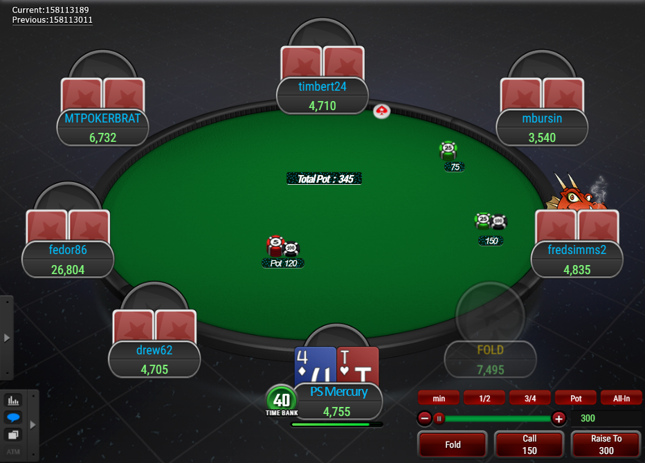 PokerStars Clone Mercury for WPN Action Buttons