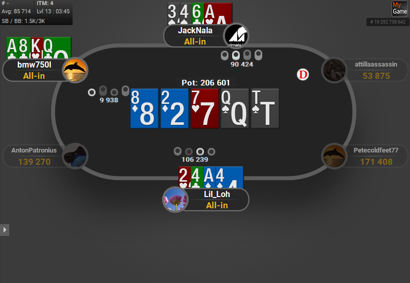 GTO V.2 for PartyPoker Coloured Cards PLO